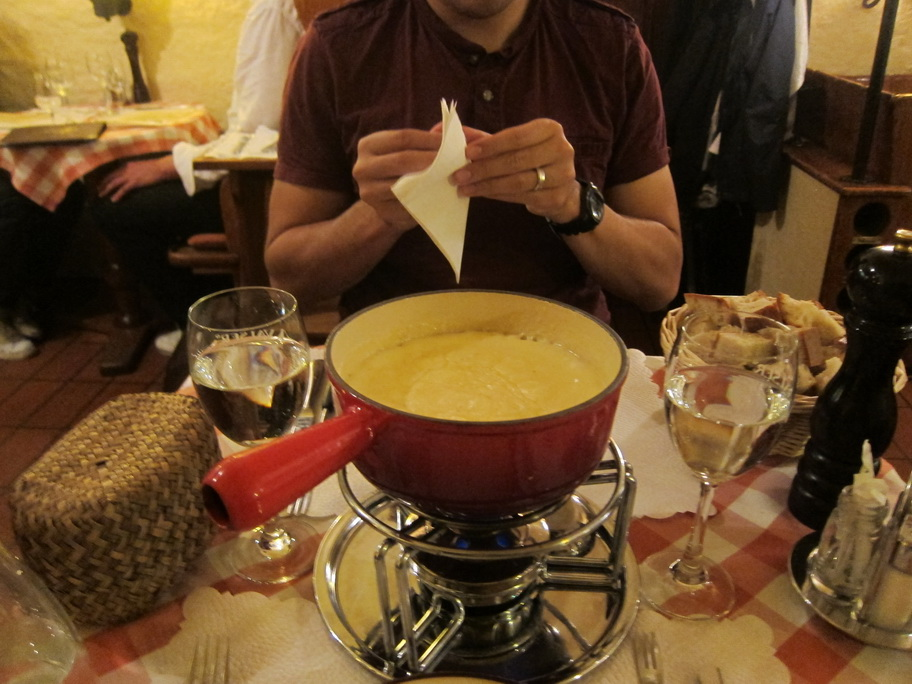 Fondue  Hot Chocolate  And Sausage In Zurich