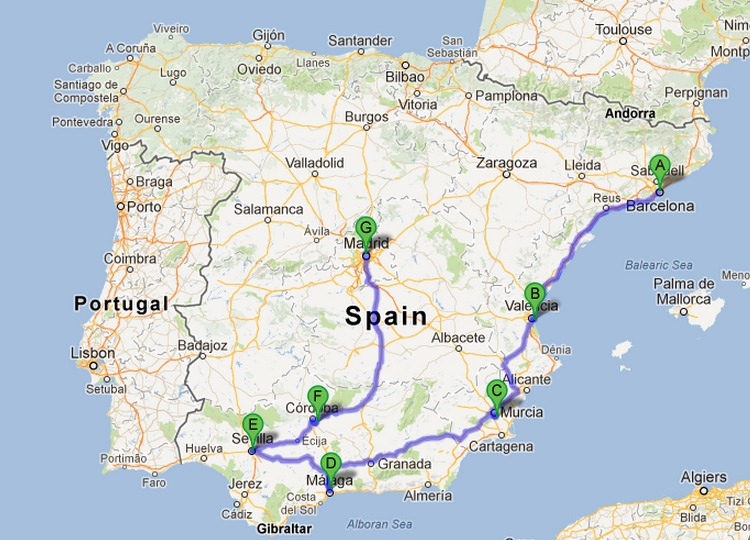 Map South Of Spain.The Selfish Guide To Southern Spain The Selfish Years