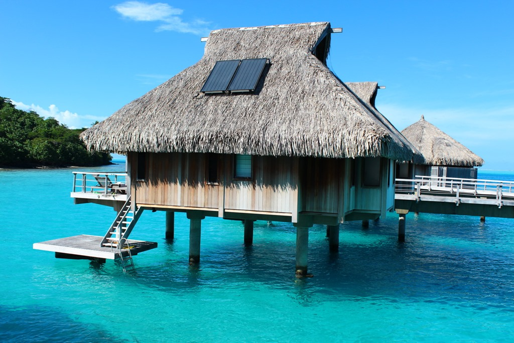 5 nights at the insanely beautiful hilton bora bora the Overwater bungalows fiji