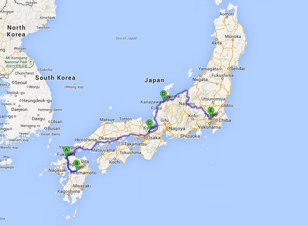 Fukuoka Japan Map The Selfish Guide to Japan | The Selfish Years