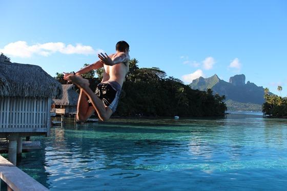 Hilton Bora Bora Jump
