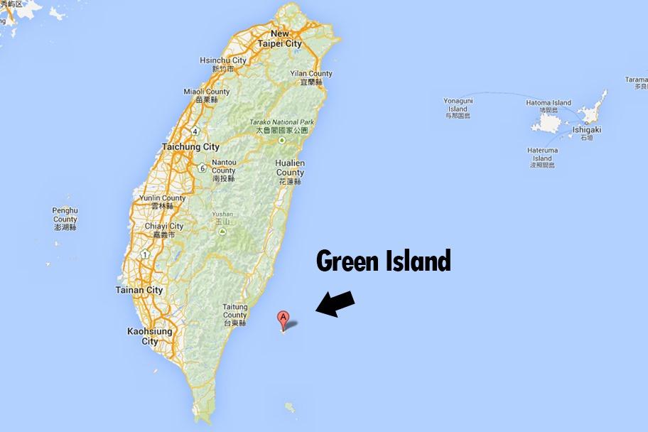 Green Island Taiwan Map Heading to Green Island | The Selfish Years